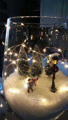 96 diy christmas apothecary jar table decorations page 23 Christmas Globes, Cool Christmas Trees, Christmas Hacks, Christmas Scenes, Christmas Candles, Christmas Centerpieces, Diy Christmas Ornaments, Xmas Decorations, Christmas Art