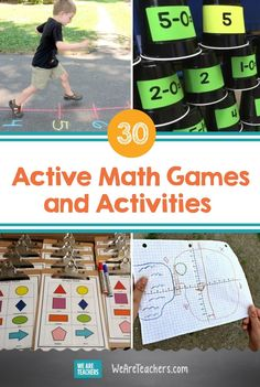 Engage kinesthetic learners with active math games and activities that get them out of their seats and learning on-the-go. Maths Games Ks1, Ks2 Maths, Graphing Activities, Activities For Kids, Maths Resources, Math Intervention, First Grade Math, Grade 2, Math For Kids