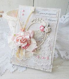 Hand Made by Alesanalovesky: Shabby Scrap. Shabby Boxes, Shabby Chic Cards, Vintage Crafts, Shabby Vintage, Homemade Wedding Cards, Raindrops And Roses, Interactive Cards, Some Cards, Card Maker
