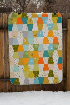 rabbits and race cars quilt by a quilt is nice, via Flickr