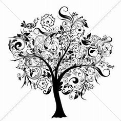 tree drawing that would be a cool tattoo