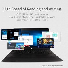 Jumper EZpad 4S Pro Tablet PC 10.6 inches Notebook PC 4GB RAM Sale Online Shopping black us - Tomtop.com
