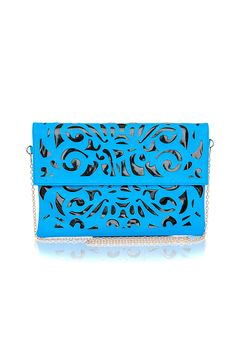 The Styling Up stylists recommend: missguided: Doliata Laser Cut Envelope Bag In Blue