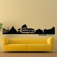 Vinyl Wall Decals Rome Italy Skyline City Silhouette Sticker Home Decor Art Mural Z601 - - Amazon.com