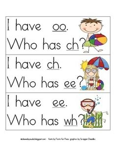 FREE Phonograms I have, Who has? (Letter sounds and chunks) Jolly Phonics, Teaching Phonics, Phonics Activities, Reading Activities, Teaching Reading, Teaching Ideas, Learning Games, Teaching Tools, Phonics Lessons