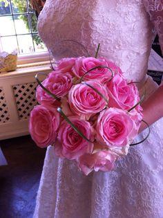 Pink rose handtied bouquet