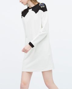 Image 2 of DRESS WITH TWO-TONE SHOULDER from Zara