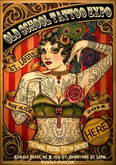 St. Louis Old School Tattoo Expo November 14 - 16, 2014 See more on: http://www.worldtattooevents.com/st-louis-old-school-tattoo-expo/ — in St. Louis.