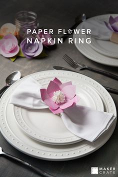 Paper Flower Napkin Ring