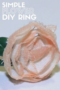 Create a beautiful flower ring that you will love. Learn how to make your own DIY jewelry with this easy craft tutorial idea. Paper Crafts For Kids, Diy Crafts To Sell, Easy Crafts, Make Your Own Ring, Make Your Own Jewelry, Diy Jewelry Tutorials, Craft Tutorials, Mason Jar Crafts, Mason Jar Diy