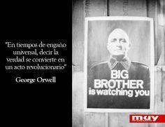 10 frases geniales de George Orwell:  http://www.muyinteresante.es/cultura/arte-cultura/articulo/diez-grandes-frases-de-george-orwell-211390298923 #frases #quotes