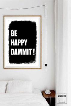 A3 plakat be happy dammit! - MAMBALAGA - Boże Narodzenie
