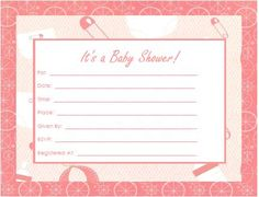 Free baby shower invitation pdfs