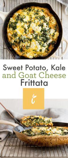 Sweet Potato, Kale and Goat Cheese Frittata