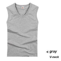 Men's Tank Tops, cotton Big Size Summer gym White Sleeveless shirt