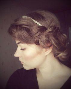 Soft braided updo #braids #hair #hairdo #pearls #natural #bohemian #bridal #wedding
