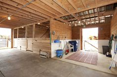 Horse wash rack and stalls