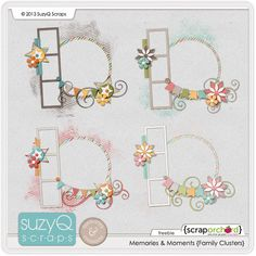 free digital scrapbook frame clusters