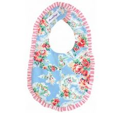 Alimrose Frilly Milly Bib First Birthday Gifts, First Birthdays, Vintage Floral Fabric, Christening Gifts, You Are Awesome, Bibs, Baby Gifts, New Baby Products, Little Girls