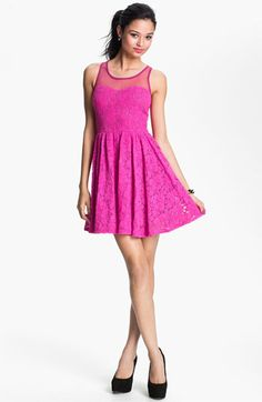 @Melissa Mabie $46 it's the right color for you!  Fire Lace Skater Dress (Juniors) available at #Nordstrom