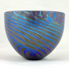 Hand Blown Glass Bowl.  by Shakspeare Glass.