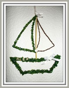 Türdeko Türkranz  Schiff Deko Taufe, Kommunion Konfirmation Fensterdeko Boot