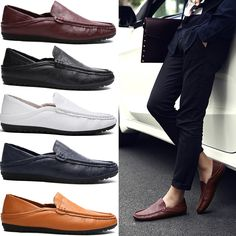 check discount men casual leather shoes oxford shoes high quality genuine pu leather brown loafer for men #luxury #shoes