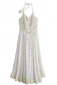 Ravenell Hand Embellished Halter Dress   | Calypso St. Barth