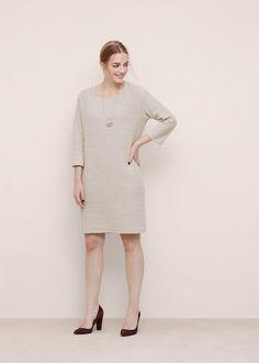 Rochie din bumbac textură Winter 2017, Fall Winter, Autumn, Cold Shoulder Dress, White Dress, Clothes For Women, Dresses, Fashion, Outerwear Women