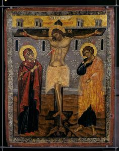Museum of Byzantine Culture, Thessaloniki Religious Images, Religious Icons, Crucifixion Of Jesus, Jesus Christ, Savior, Photography Illustration, Art Photography, Art Roman, Paint Icon