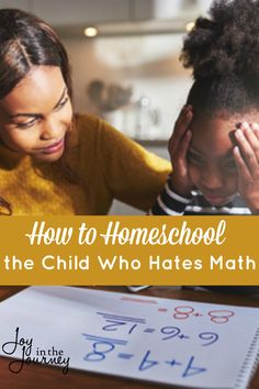 Do you have a child who hates math? I had no clue how to homeschool the child who hates math, and realized I was doing it ALL wrong! Math For Kids, Fun Math, Math Activities, Math Resources, Homeschooling Resources, Teaching Subtraction, Teaching Math, I Love School, School Stuff
