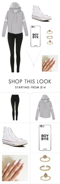 """""""Untitled #141"""" by kxtlkh ❤ liked on Polyvore featuring Topshop, Victoria's Secret and Converse"""