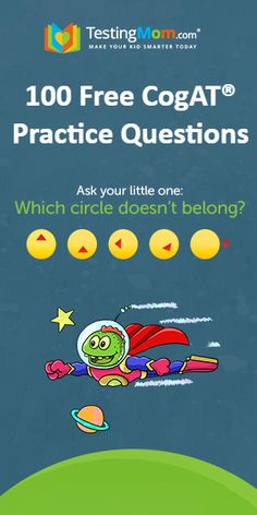 Free Practice Questions for the CogAT®️ Test. Can your child answer our challenging gifted questions? Reach your child's academic potential at TestingMom.com.