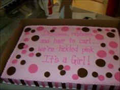 Baby Shower Sheet Cakes for Girls   Larry's House of Cakes   FollowPics