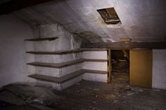 """Empty apartment where they set up """"house"""" in Budapest... and fix it up to be their own"""