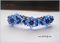 Blue Pearl Flower Bracelet