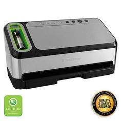 Foodsaver Vacuum Sealer Machine With Automatic Bag Detection And Starter Kit / Safety Certified / Silver Stainless Steel Specialty Appliances, Small Appliances, Kitchen Appliances, Wide Mouth Mason Jars, Freezer Burn, 1. Tag, Best Vacuum, Vacuum Sealer, Sous Vide