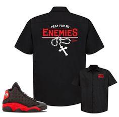 7e9efacd3ad106 Jordan 13 Bred Button Shirt - Enemies - Black