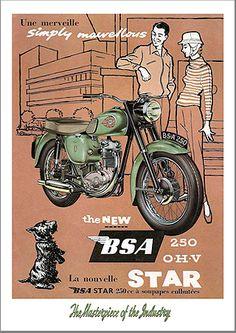 BSA 250Star advertising poster