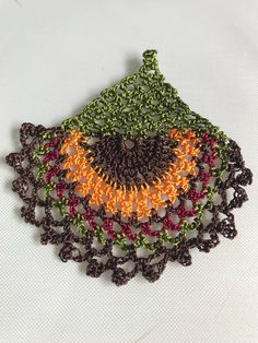 6 Pieces Crochet Flowers Ethnic Vrochet Pattern Crochet – T-Shirts & Sweaters Crochet Puff Flower, Crochet Flowers, Crochet Mandala, Crochet Flower Patterns, Crochet Motif, Crochet Designs, Hand Crochet, Beading Patterns, Crochet Hair