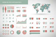 Work Related Infographics by Blablo on @creativemarket