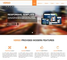 VERSO responsive Bootstrap template by Bootstraptor on @creativemarket