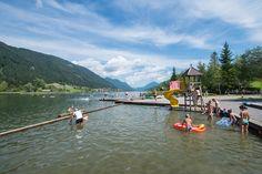 Seecamping Weissensee Müller - Karinthïe - Oberdorf - geen zwembad, direct aan meer met glijbaantje, grote plaatsen, goede reviews