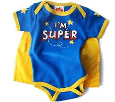 Guys, it comes with a cape! I can't even...! | Buzzfeed - 36 Onesies For The Coolest Baby You Know