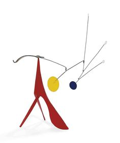 Alexander Calder (1898-1976) Two Legs and a Belly signed with the artist's initials 'CA' (on the top of the brass element) standing mobile: painted sheet metal, brass and wire 16 x 17 x 6 in. (40.6 x 40.8 x 14.4 cm.) Executed circa 1959