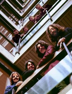 The Beatles, on one of their most famous album covers