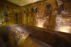 Scans of King Tut's Tomb Reveal New Evidence of Hidden Rooms. Picture of King Tut's tomb.