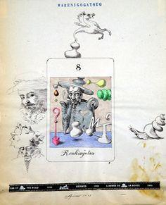 カルタ(錬金術)Carta(Alchemy) (38×30cm、ボールペン・アクリル)