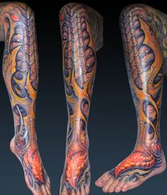 If you're a tattoo enthusiast then you should know Guy Aitchison. He's one the of the best bio-mechanic/organic artists around! Check him out!