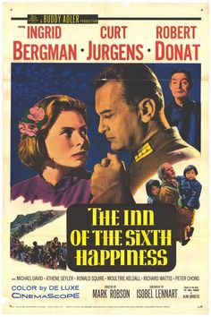 """The Inn of the Sixth Happiness"" in 1958 directed by Mark Robson (Montreal 1913 - London 1978). The film was based on the book The Small Woman (1957) by Alan Burgess, tells the story of Gladys Aylward (1902–1970), a tenacious British maid, who became a missionary in China during the tumultuous years leading up to World War II. The film received an Academy Award nomination for Best Director."